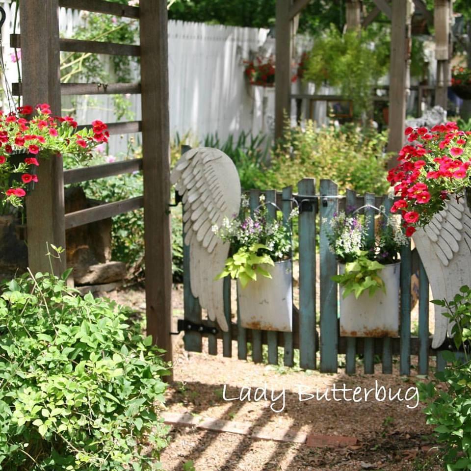 My Secret Garden: ~ Arbor Built With Architectural Finds ~