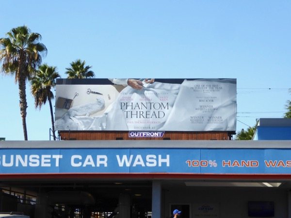 Phantom Thread film billboard