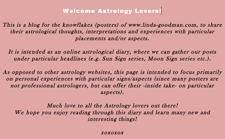 Lindaland Astro Diary: Lindaland Astrological Tidbit Series