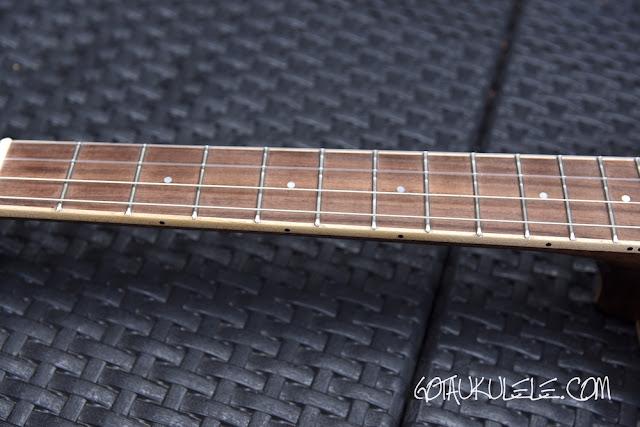 Paul Barnard Wildcat Baritone Ukulele fingerboard