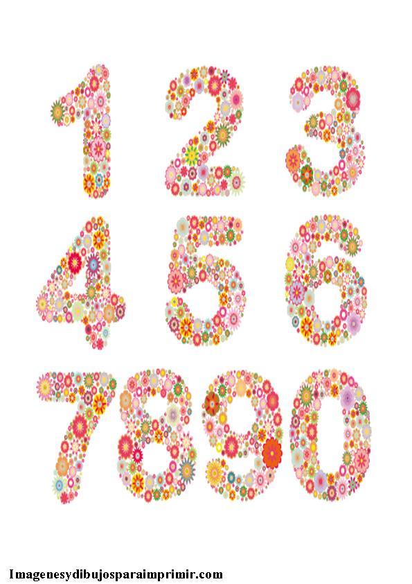 numeros de flores para imprimir imagenes y dibujos para