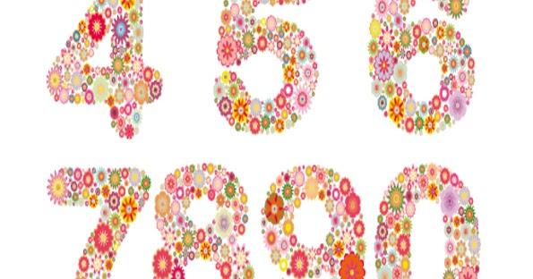 Edit Pdf In Word >> Numeros de flores para imprimir | Imagenes para imprimir ...