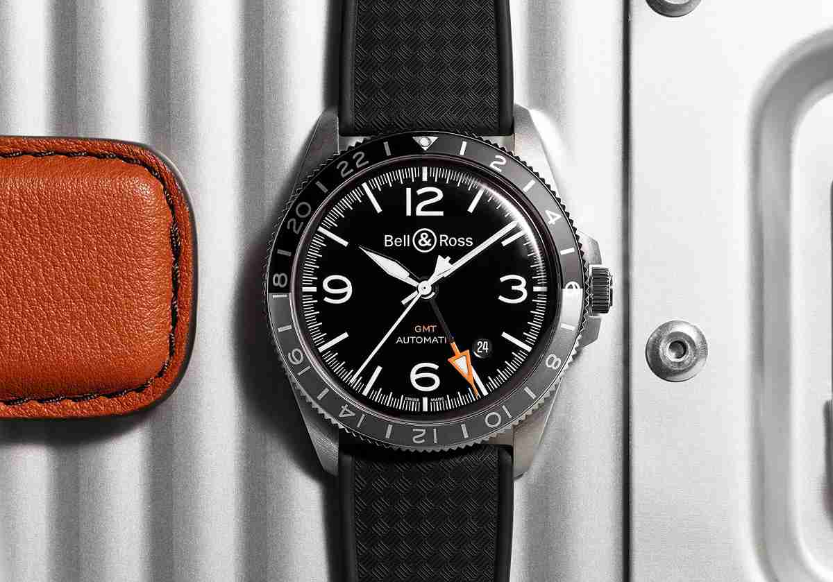 ad3af5880de8 Réplicas De Relojes Bell   Ross Vintage BR V2-93 GMT Automático 24 H Dial