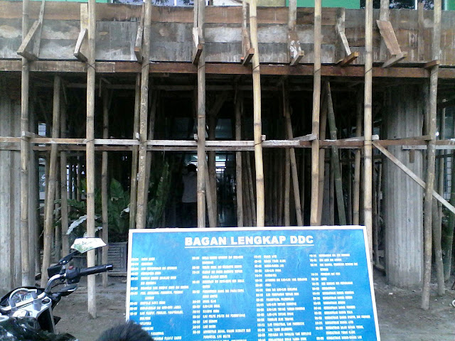 Bagian depan pintu masuk utama Perpustakaan Pemerintah Kota Medan Jalan Iskandar Muda No. 270, Medan Petisah, Medan, Sumatera Utara
