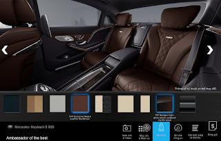 Nội thất Mercedes Maybach S600 2017 màu Nâu Nut (514)