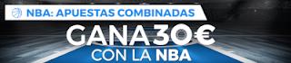 Paston promocion 30 euros apostando NBA 19-25 noviembre