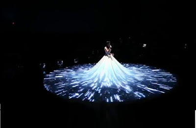 3D projection on wedding dress