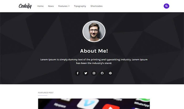Codeify Blogger Template