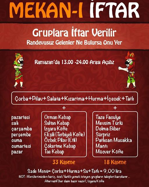 mekan kıraat evi kızılay iftar kızılay iftar mekanları kızılay iftar menüleri kızılay iftar yemeği
