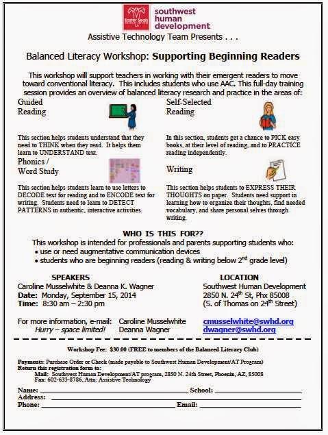 AAC Girls: Balanced Literacy Workshop 9-15-14