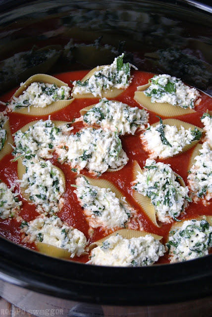 Crockpot Three Cheese Stuffed Shells