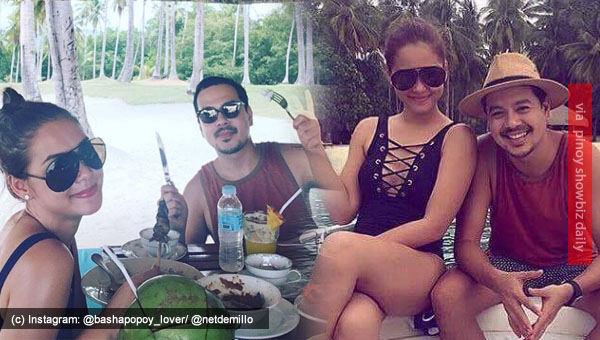 Maja Salvador and John Lloyd Cruz spotted in Davao beach