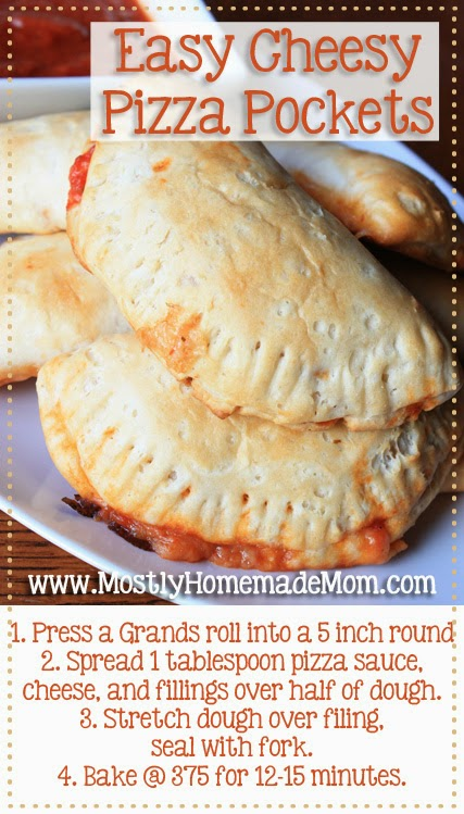 Easy Cheesy Pizza Pockets