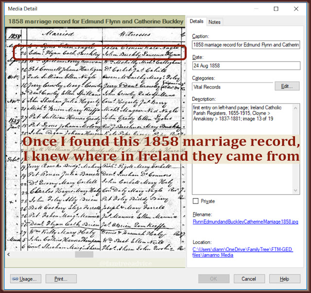 One document after another, you can make progress on that in-law's family tree.