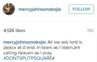 Please Don't Split! Nollywood Star, Mercy Johnson in Tears as She Begs P-Square Not to Break Up