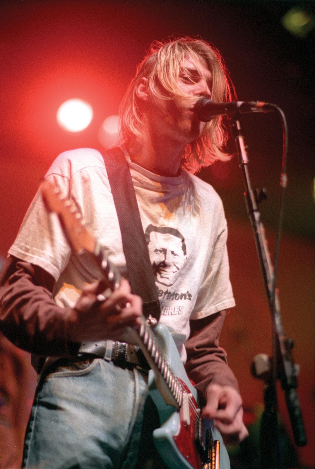 Guitar And Girl Wallpaper I Was Here Kurt Cobain