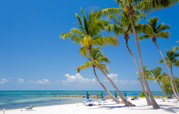 Praia Smathers Beach em Key West