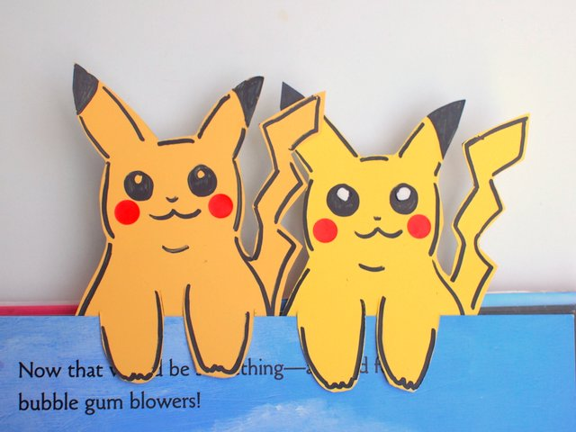 Paint Chip Pokemon Pikachu Bookmarks Easy Kids Craft