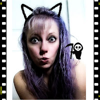 movie film scared cat kitten ears grim reaper ghost frightened spooked halloween