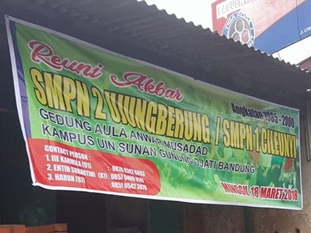 Alumni SMPN 2 Ujungberung Bakal Menggelar Reuni Akbar 18 Maret 2018
