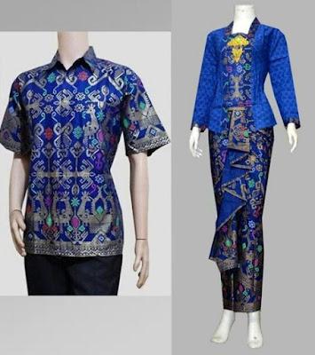 Baju Kebaya Batik Couple Pria Wanita