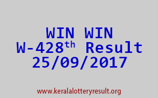 WIN WIN Lottery W 428 Results 25-9-2017
