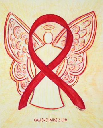 Red Awareness Ribbon Angel Picture Image
