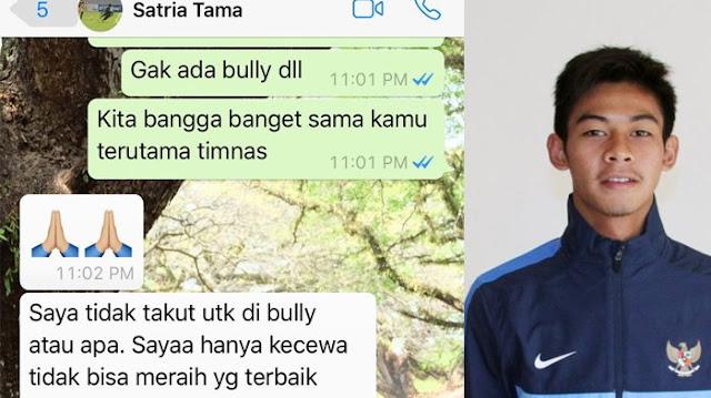 Bikin Haru, Begini Isi Chat WA Kiper Timnas Usai Dikalahkan Malaysia