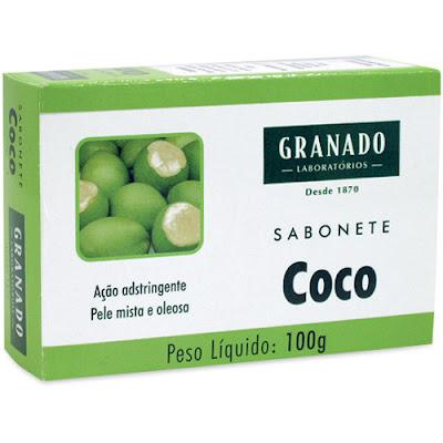 sabonete de coco Granado pele mista e oleosa
