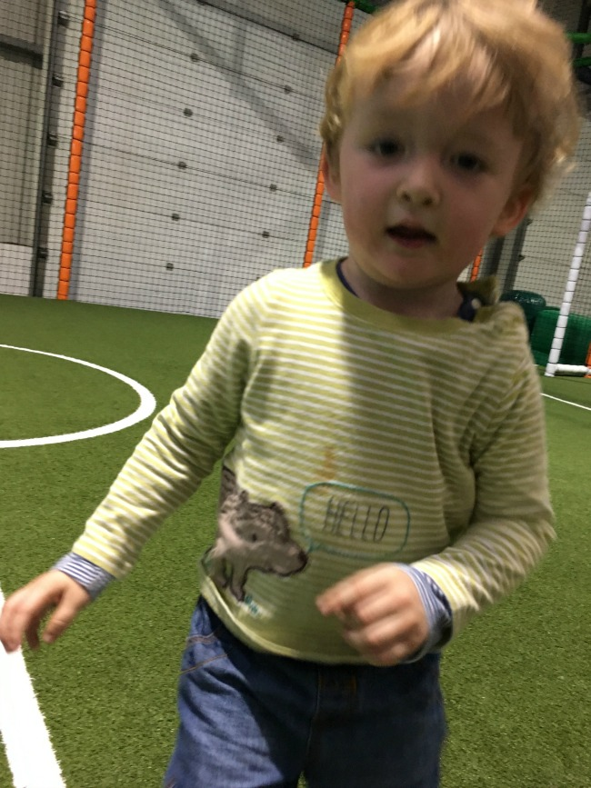 #MySundayPhoto-number-50-toddler-on-football-pitch-at-Mambo