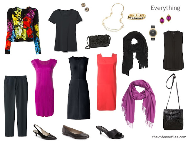 A 3 dress travel capsule wardrobe for a formal weekend