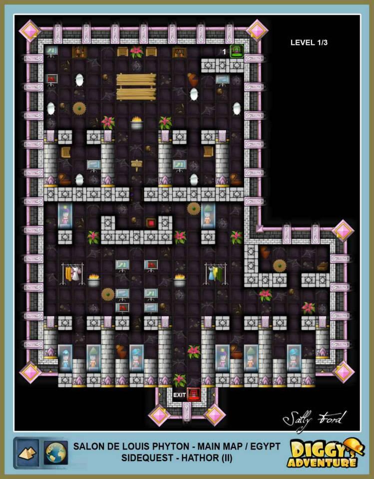 Diggy's Adventure Walkthrough: Egypt Main / Salon de Louis Phyton