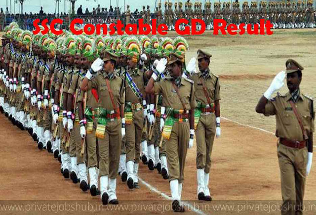 SSC Constable GD Results