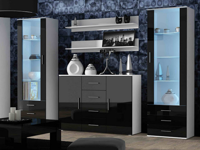 black gloss living room furniture set home furniture design ideas