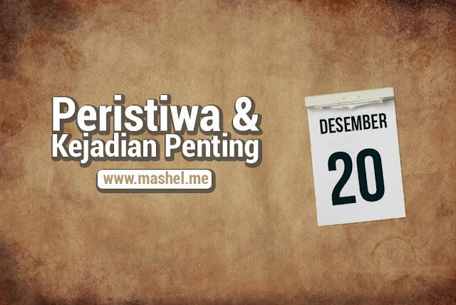 Peristiwa dan Kejadian Penting Tanggal 20 Desember