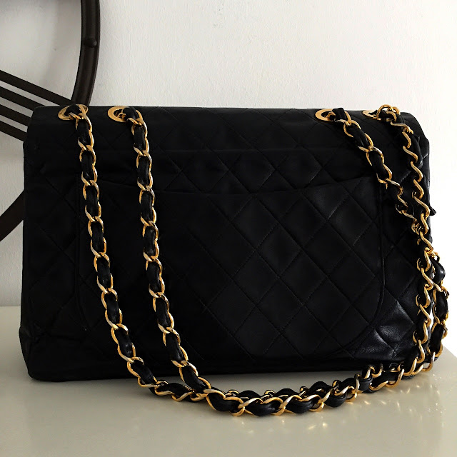 sac chanel jumbo XL vintage back