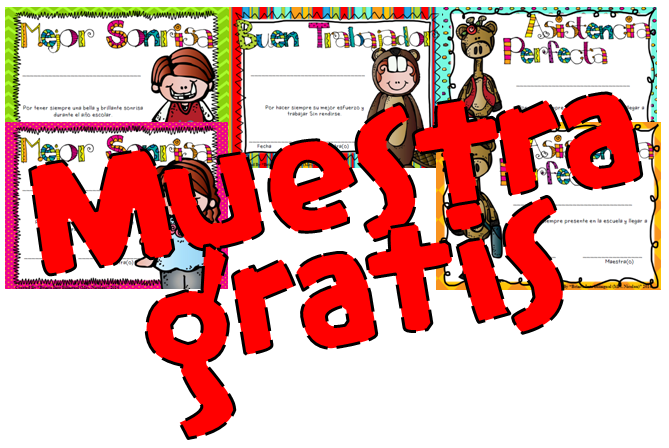 http://www.teacherspayteachers.com/Product/FREE-SAMPLE-Certificados-Salvajes-para-final-del-ano-escolar-1252738