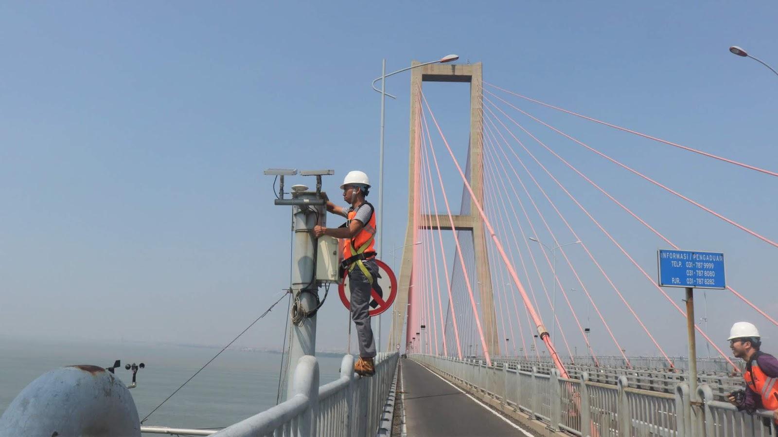 Trial Pemantauan GNSS Realtime di Jembatan Suramadu