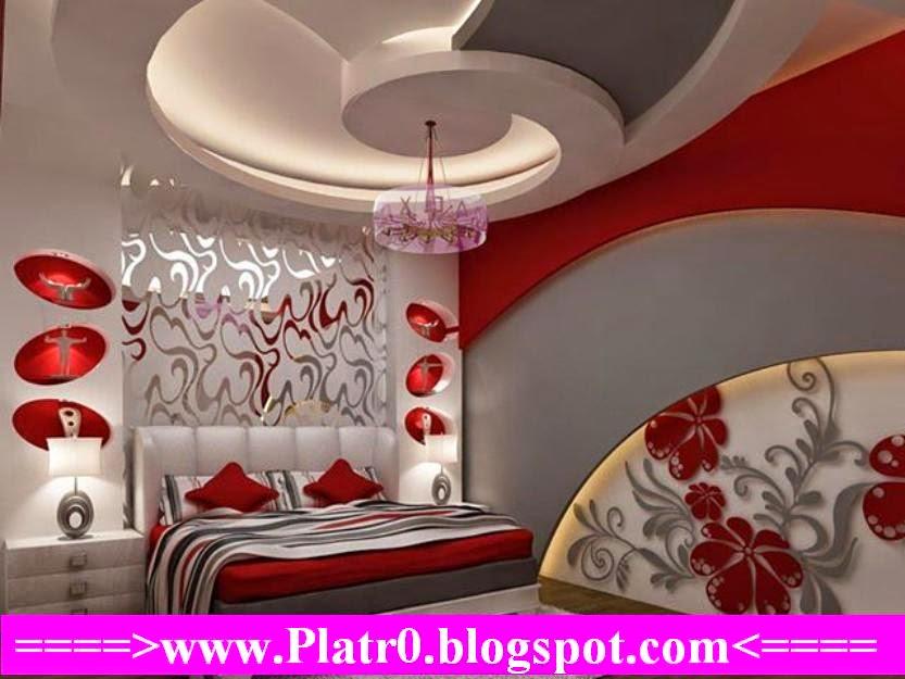 Chambre Coucher 2015+ Faux Plafond Moderne - Décoration ...