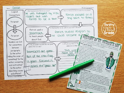 Practice reading comprehension with these standard aligned activities while you learn about St. Patrick's day
