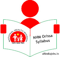 NHM Orissa Public Health Mission Syllabus