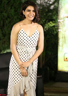 Samantha Ruth Prabhu looks super cute in a deep neck sleeveless short dress ~ Exclusive 016