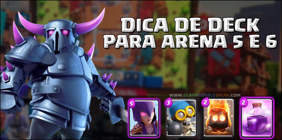 Deck combo de p e k k a para arenas 5 e 6 clash royale dicas for Deck pekka arene 7