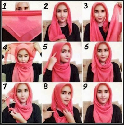Tutorial hijab hidung pesek