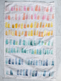 colorful rainbow flour sack towels