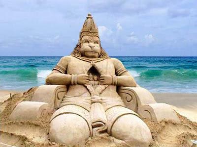 Jai Hanuman Sand Art