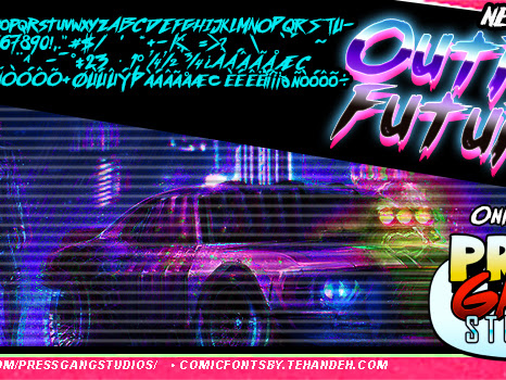 Outrun future Fancy Comic Font Free Download