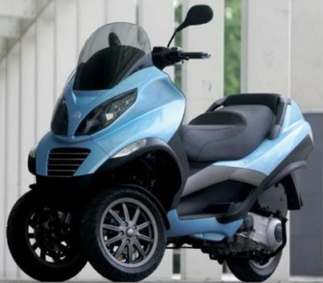 vespa mp3 two front wheels ~ motor x team