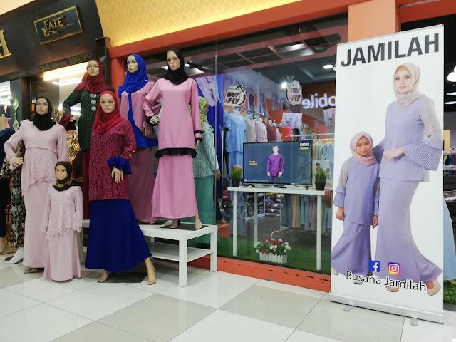 Siap ada disediakan TV untuk tengok video koleksi baju Busana Jamilah