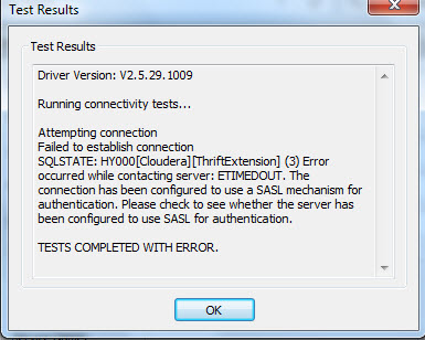 Discover BI: [Solved] Impala ODBC SASL Authentication Error